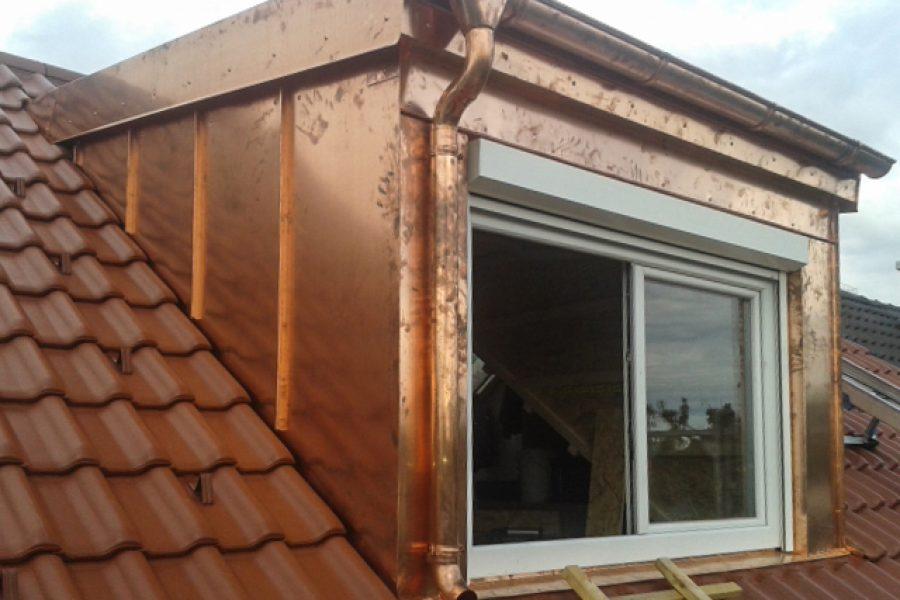 Dachgaube, Kupfer-Verkleidung