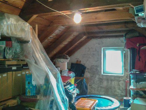 Dachgeschoss, Speicher vor Ausbau