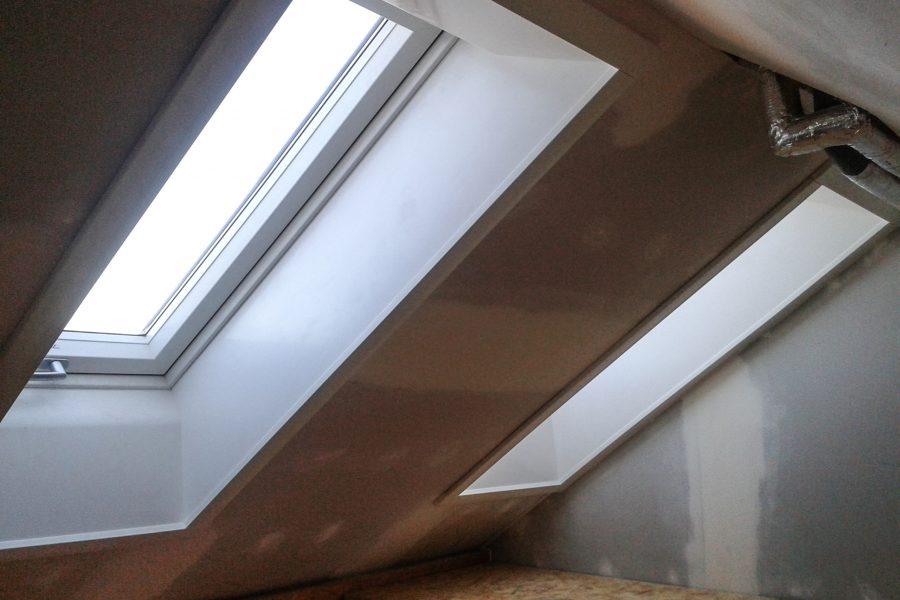 Privathaus, neue Dachfenster